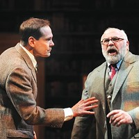 Jonathan Crombie (left) and David Wohl in <i>Freud's Last Session</i>, at Pittsburgh Public Theater
