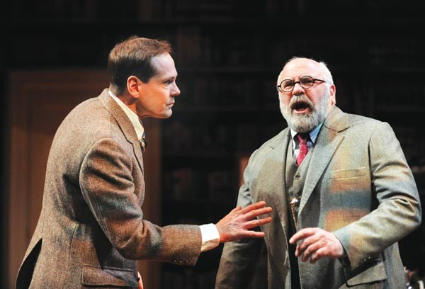 Jonathan Crombie (left) and David Wohl in Freud's Last Session, at Pittsburgh Public Theater