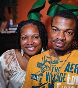 Jordan Miles and his mother, Terez, in 2011