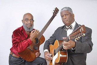 Josh White Jr. and Rev. Robert B. Jones Sr. play Carnegie Lecture Hall