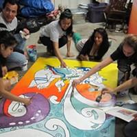 Jovenes sin Nombres mural