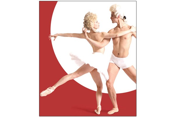Julia Erickson and Robert Moore in a promo image for Pittsburgh Ballet Theatre's Uncommon