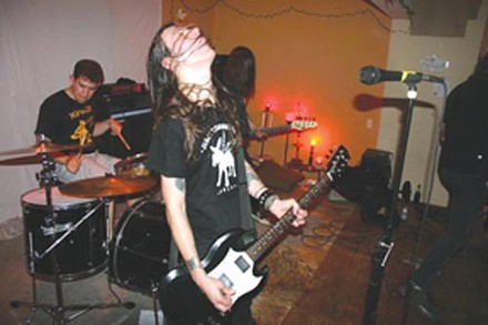 Just fucking rock 'n' roll: Mud City Manglers (Ted Tarka, foreground, and Brian Porter, on drums)