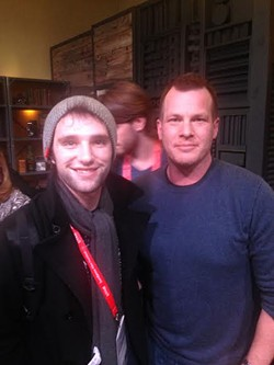 Justin Illig (left) with screenwriter and director Jonathan Nolan - PHOTO COURTESY OF DAVID RANDOLPH