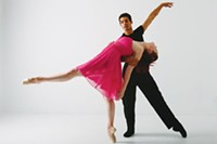Kelsey Bartman and Alan Obuzor of Texture Contemporary Ballet at New Hazlett theater