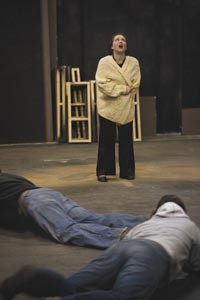Kennedy (standing), as Myrna, in rehearsal. - HEATHER MULL