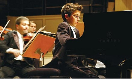 Keyed up: Teo Gheorghiu as child pianist Vitus
