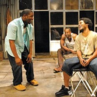 Kin-esthetic: Joshua Elijah Reese, Albert Jones and Jared McNeill in City Theatre's <i>The Brothers Size</i>.