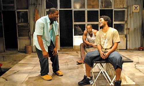 Kin-esthetic: Joshua Elijah Reese, Albert Jones and Jared McNeill in City Theatre's The Brothers Size. - PHOTO COURTESY OF SUELLEN FITZSIMMONS.