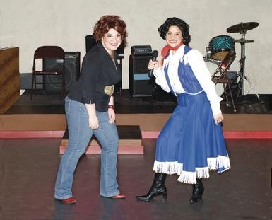 Kristin S. Buccilli and Katie Aiello in Always ... Patsy Cline, at the Theatre Factory.