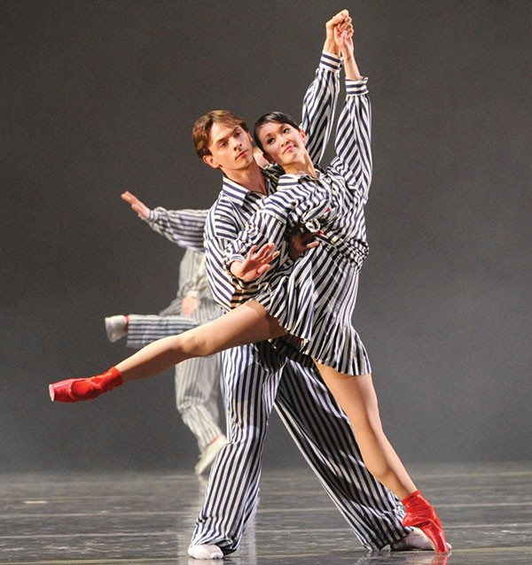 Kumiko Tsuji and Luca Sbrizzi in Pittsburgh Ballet's In the Upper Room