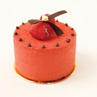 One of La Gourmandine's creations, a raspberry and chocolate pastry
