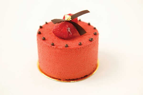 La Gourmandine's, a raspberry and chocolate pastry, best of