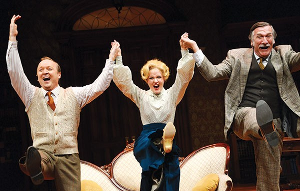Left to right: Benjamin Howes, Kimberly Doreer Burns and John Little in My Fair Lady, at the Public - PHOTO COURTESY OF PITTSBURGH PUBLIC THEATER
