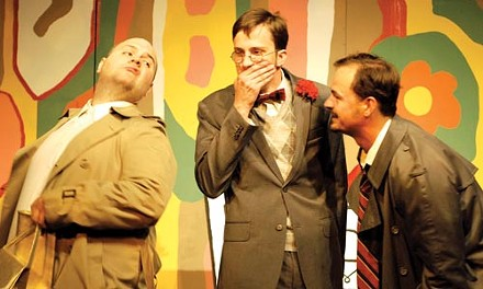 (left to right) Dave Ranallo, TJ Firneno and Bobby Zinsmeister in The Summer Company's A Thurber Carnival. - COURTESY OF THE SUMMER COMPANY
