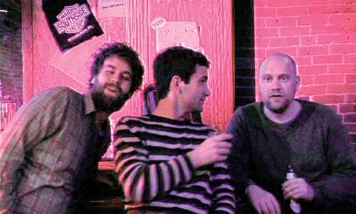 """Life of the party: Filmmaker Chris Smalley (left) stars in his """"The Silver-Tongued Devil."""""""