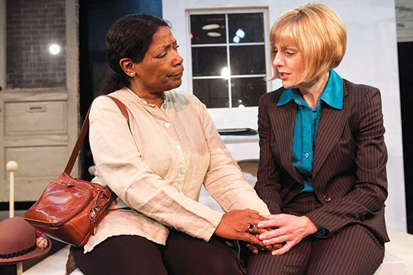 Linda Haston (left) and Adrienne Wehr in Without Ruth, at Off the Wall Productions