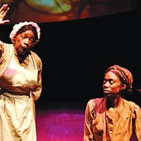 "Linda Haston (left) and Siovhan Christensen in ""For the Tree to Drop"""