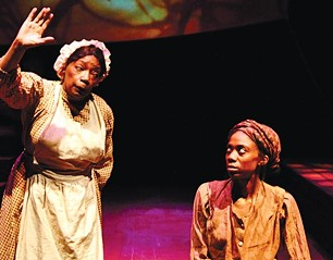 """Linda Haston (left) and Siovhan Christensen in """"For the Tree to Drop"""" - PHOTO COURTESY OF SUELLEN FITZSIMMONS"""