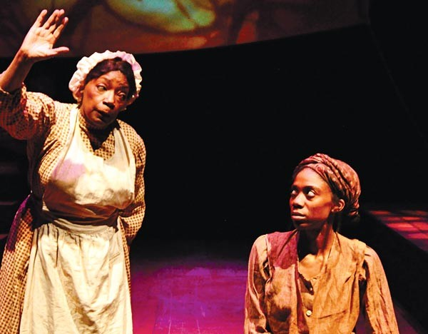"Linda Haston (left) and Siovhan Christensen in ""For the Tree to Drop"" - PHOTO COURTESY OF SUELLEN FITZSIMMONS"