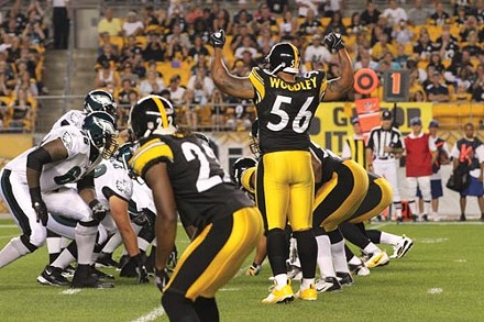 Linebacker Lamarr Woodley will be key to the Steelers defense - PHOTO BY HEATHER MULL