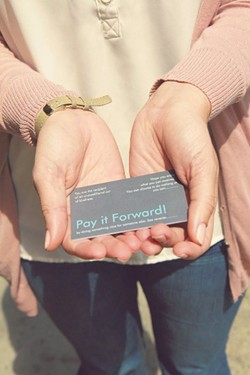 Listen, Lucy's pay-it-forward cards encourage good deeds. - PHOTO COURTESY OF JENNIFER NASH