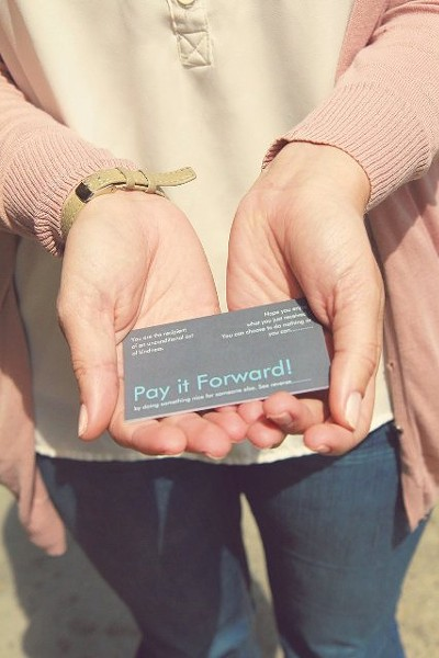 Listen, Lucy's pay-it-forward cards encourage good deeds. - PHOTO COURTESY OF JENNIFER NASH