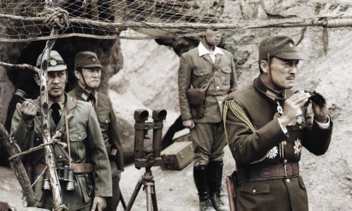Looking for America: Ken Watanabe (right) portrays Japanese Gen. Kuribayashi