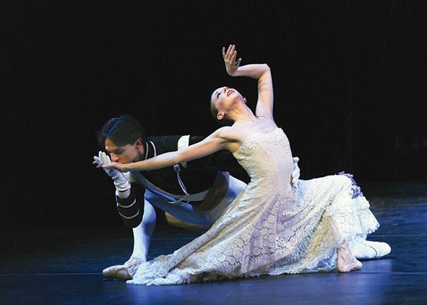 "Luca Sbrizzi and Alexandra Kochis in ""Jardin Aux Lilas (Lilac Garden)."""