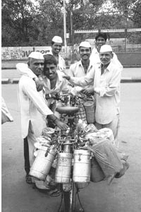 Lunch tickets: Some stars of The Dabbawallas.