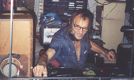 Mad Mike, at the controls at Pietro's Pizza Pub, in 2000