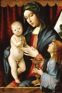 """Madonna and Child with Angel,"" by Francesco Francia Tarquinius"