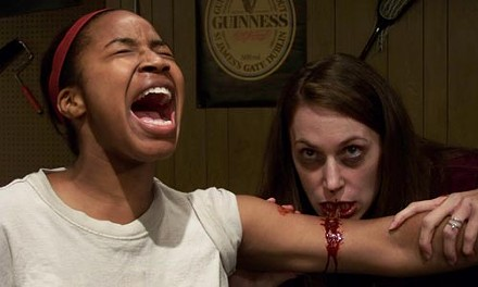 Makeda Duncan-Parker (left) and Valentina Benrexi in The Revenants, at Pittsburgh Playwrights Theatre Co. - MARK WHITEHEAD