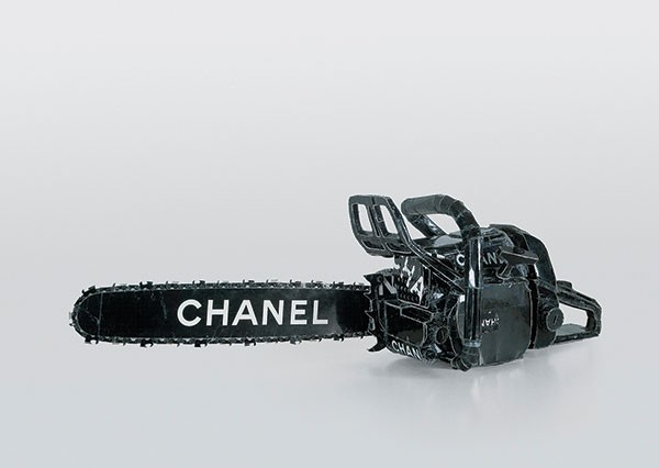 "Making the cut: Tom Sachs' ""Chanel Chainsaw"" (1996)."