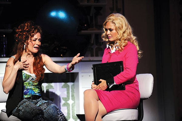 Mamie Parris and Kathleen Elizabeth Monteleone in Pittsburgh CLO's Legally Blonde:The Musical.