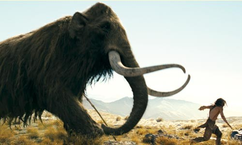 Mammoth problem: D'leah (Steven Strait) on the run.