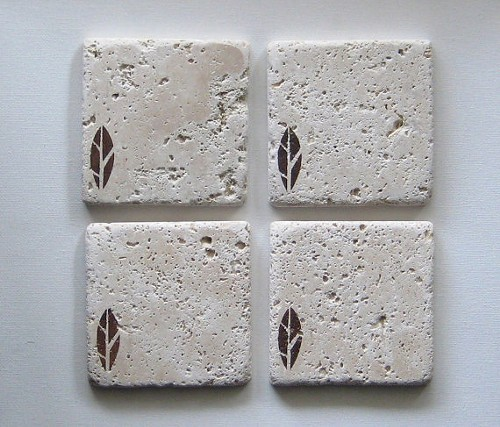 Marble coasters from Two Crafty Chickies