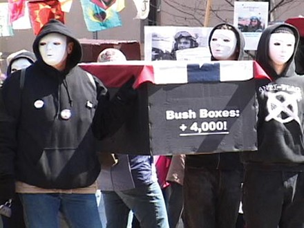 "March 2008: The ""war on terror"" marched on … and so did the protesters. - PHOTO BY CHRIS POTTER"