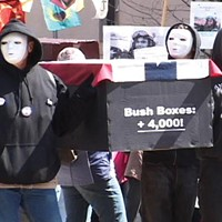 """March 2008: The """"war on terror"""" marched on … and so did the protesters."""