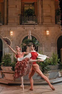 Maribel Modrono and Christopher Rendall-Jackson in Don Quixote. Photo courtesy of Ric Evans.