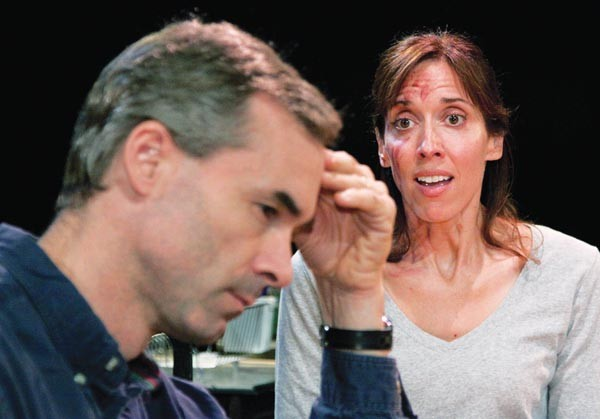 Mark Cox and Mary Liz Meyer in Little Lake's Time Stand Still.