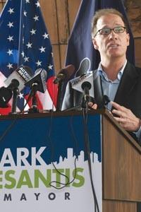 Mark DeSantis at his campaign announcement June 26