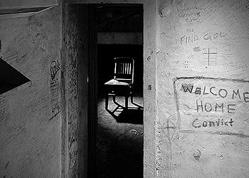 Mark Perrott turns his lens on prison graffitti inside Western Penitentiary.