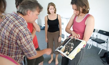 Mark Staley, Anya Martin and Michelle Carello collaborate on staging El Camino. - RENEE ROSENSTEEL