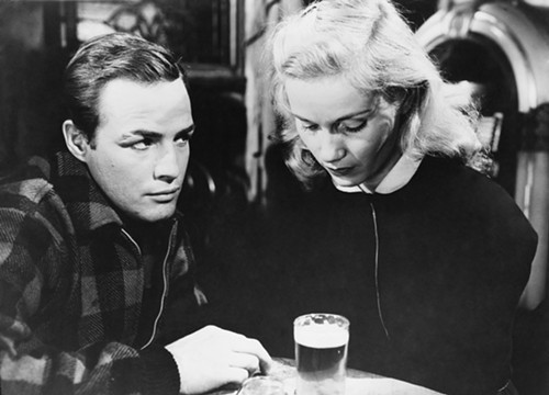 Marlon Brando and Eva Marie Saint, in On the Waterfront