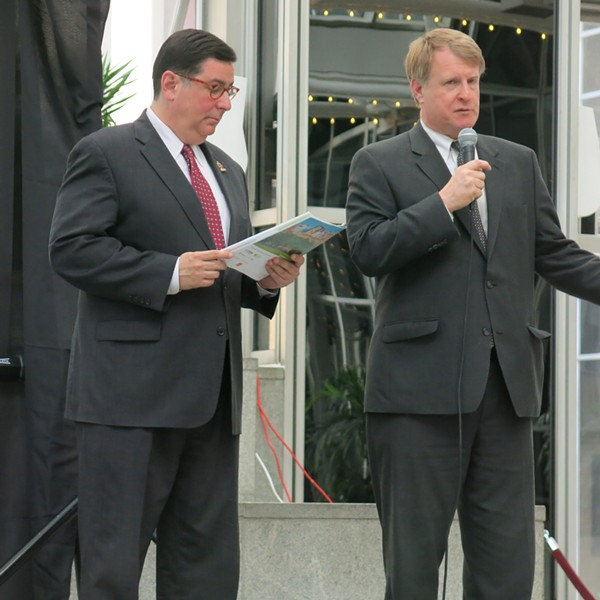 Mayor Bill Peduto and County Executive Rich Fitzgerald at yesterday's 2030 District event - PHOTO BY BILL O'DRISCOLL