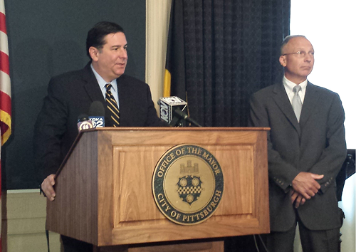 Mayor Bill Peduto introduces new City Public Safety Director Stephen Bucar