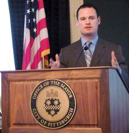 Mayor Luke Ravenstahl wants to borrow $80 million to spend on city improvements. - PHOTO BY LAUREN DALEY