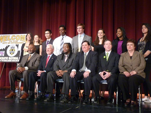 Mayoral Candidates and students at last weeks debate
