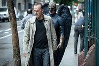 Me and my shadow: Riggan (Michael Keaton) and Birdman